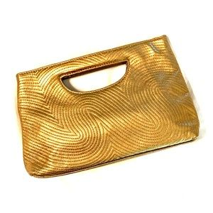 The Limited Gold Bronze Clutch Bag